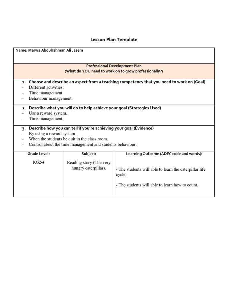 The Eight Lesson Plan Reading Story Lesson Plan Reading
