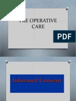 Pre Operative Care