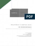 Relatório e contas Sanfil 2015