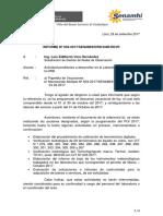 INF. TÉC. Nº 024-2017-SENAMHI-DRD-SGR-DeVR Actividades Pendientes a Desarrollar en El Laboraorio de Termohigrometria 29.09.2017