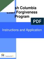 bcloanforgiveness application