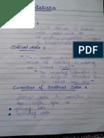 Statistics Notes