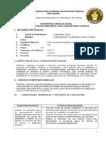 Silabo de Documentación Sanitaria y Del Laboratorio Clínico