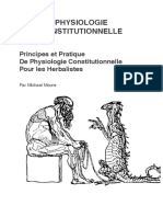 Physiologie Constitutionnelle Moore