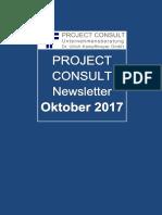 [DE] Project Consult Newsletter Oktober | Dr. Ulrich Kampffmeyer | 2017