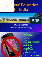 4. Power Point Presentation (PPT/PDF) Teachers' Education in India