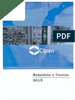 Relatório e Contas - Cipan 2015