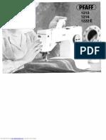 PFAFF 1213 Sewing Machine Manual