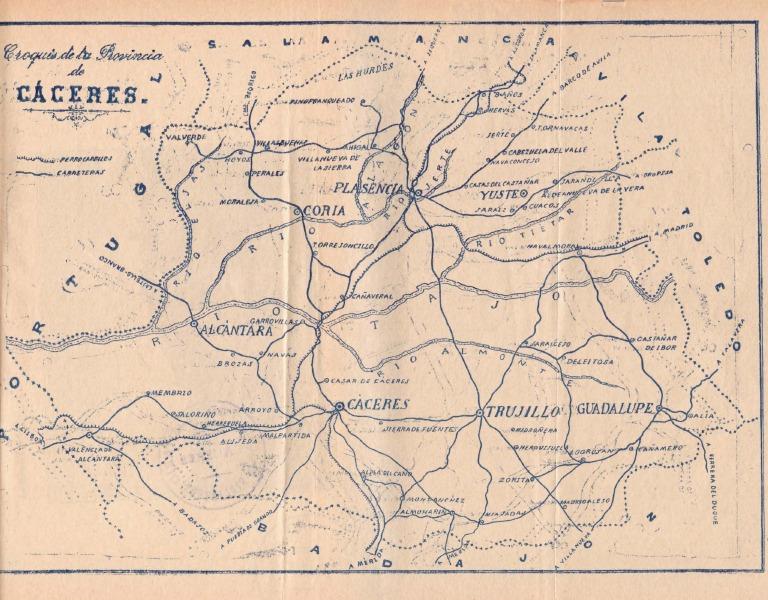 Mapa De Ferrocarriles Y Carreteras De La Provincia De