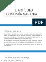 Avance Articulo Economía Naranja