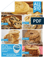Frozen Gourmet Cookie Dough Fundraisers