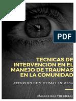 Psicologia en Crisis y Desastre - Intervencion en Masas y comunidades
