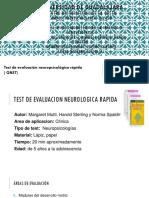Test de Evaluacion Neuropsicologica Rapida