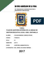 Plan de Auditoría Interna-colquis Medina Conrad