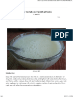 How to Make Soya Milk at Home