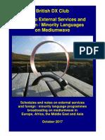 External Services on MW - Oct 2017 - British DX Club