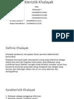 Karakteristik Khalayak
