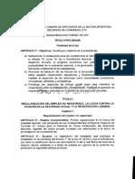 Proyecto Borrador Reforma Laboral Argentina