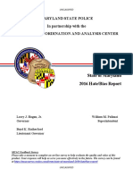 2016 Maryland Hate Bias Report