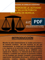 Norma y Padrón de La Actvidad Musical en La via Publica Municipal de Morelia.