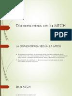 Dismenorreas en La MTCH