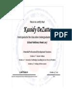 kassidy dezutter ww certificate