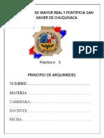 PRACTICA 4 LAB-FIS-102 Hidrostatica (Principio de Arquimides)[1]