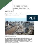 Por Qué El Perú Cayó en Ránking Global De