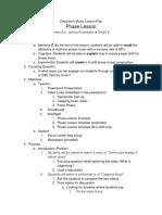 round 3 phase lesson plan