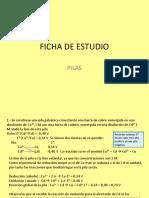 FICHA de ESTUDIO Pilas y Electrolisis