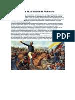 24 de Mayo de 1822 Batalla de Pichincha