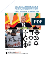 NEW CONSTITUTION  LET US REACH OUT FOR EACH OTHERS' HANDS, ACROSS COMMUNITY AND PARTY LINES – MANGALA SAMARAWEERA.docx