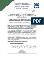 Agenda Legislativa PAN -Reunión Plenaria 18, 19 y 20 de Agosto-