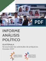 GUATEMALA. Se acumulan solicitudes de antejuicios a funcionarios