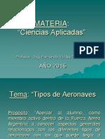 Tema Tipos de Aeronaves