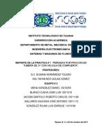 Reporte de Practica de Sistemas y Maquinas de Fluidos.