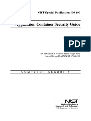 NIST SP 800-190 | Operating System | Vulnerability (Computing)