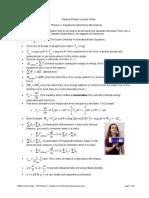 0205 Lecture Notes - AP Physics C- Equations to Memorize Mechanics