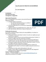 Guía Para Entrega de Proyecto Final de Sustentabilidad