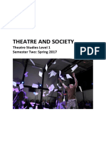 Theatre and Society - Course Document Spring 2017