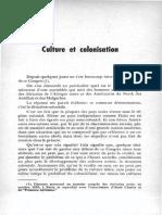 Culture Et Colonisation (21p) - Aimé Cesaire