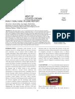 Tratamentul chirurgical al unei fracturi corono-radiculare subgingigvale penetrante