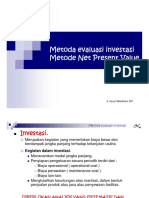 6. Metoda Evaluasi Investasi