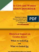 Adhd in Women the Hidden Disorder