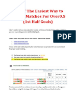 First Half Goals Betting Strategy