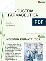 Industria Farmacéutica- Gino y Estefani