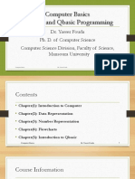 Computer Basics and Q basic Programming