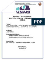 Documentación y Registro en El Sistema de Información - Auditoria II