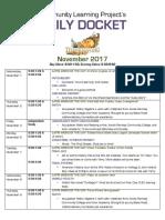 november daily docket