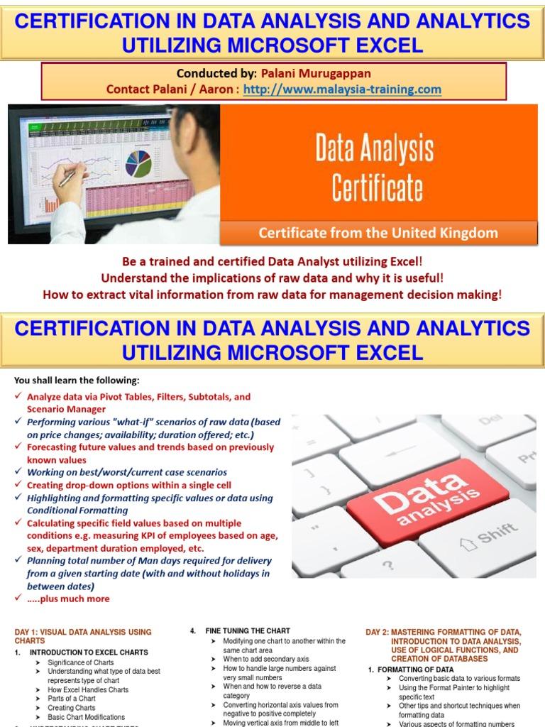 Data Analysis Analytics Certification Training Malaysia Data